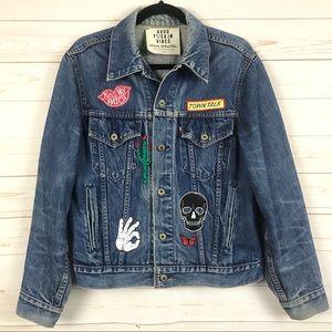 Planet Blue Good F*ckin Vibes Levi's Denim Jacket